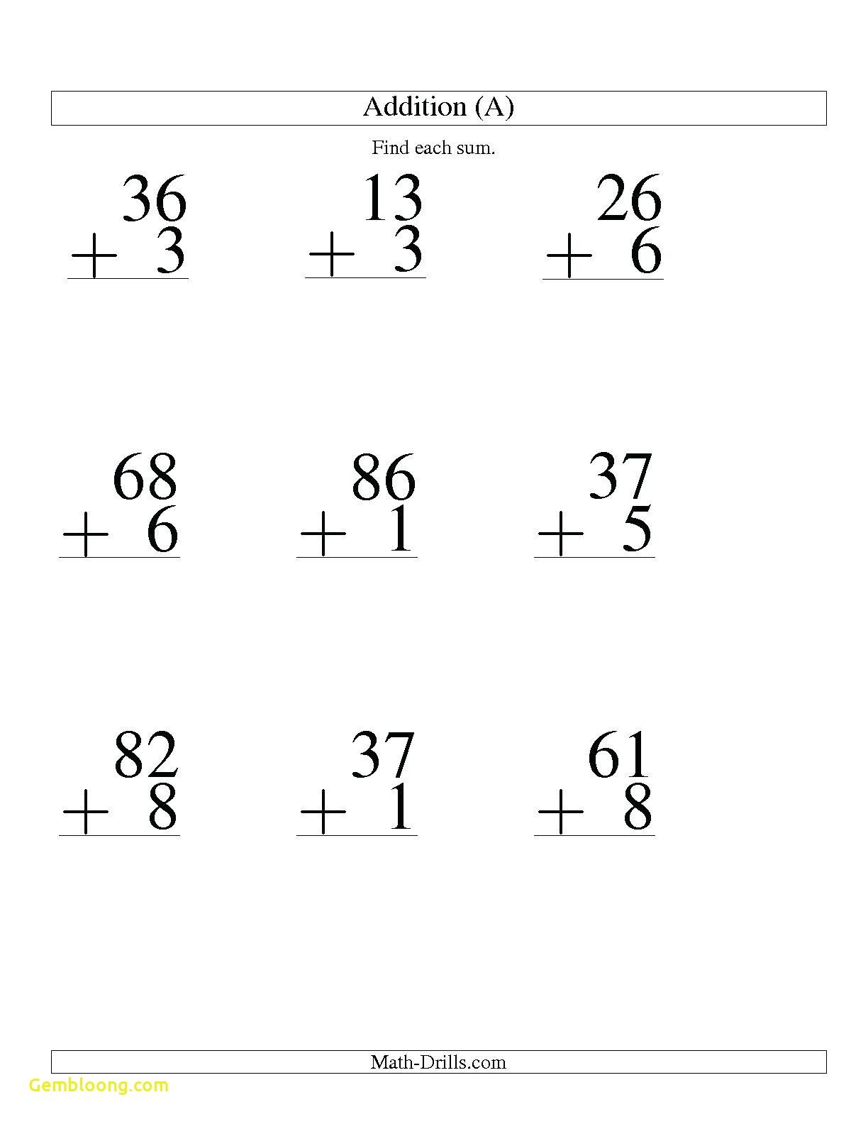 Official Double Digit Addition With Regrouping Worksheets