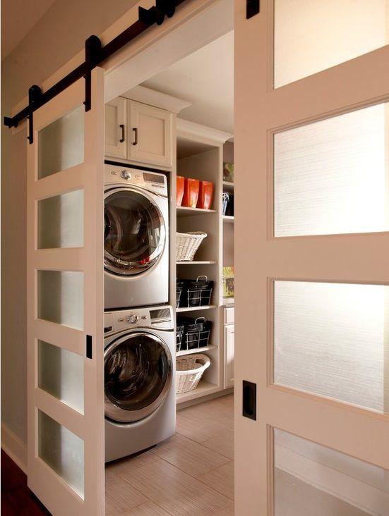 Cuarto de lavado cuartos de lavado pinterest laundry for Laundry room sliding doors