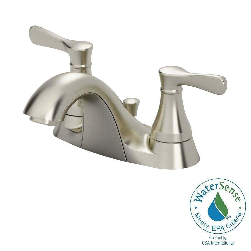American Standard Alejandra 4 in. Centerset 2-Handle Bathroom Faucet ...
