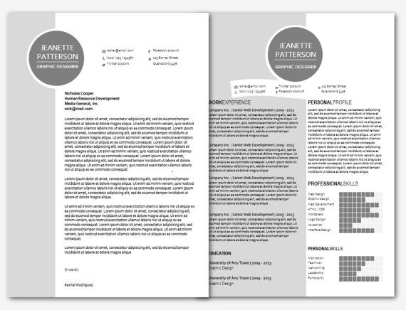 Modern Microsoft Word Resume and Cover Letter Template by INKPOWER - letter template microsoft word