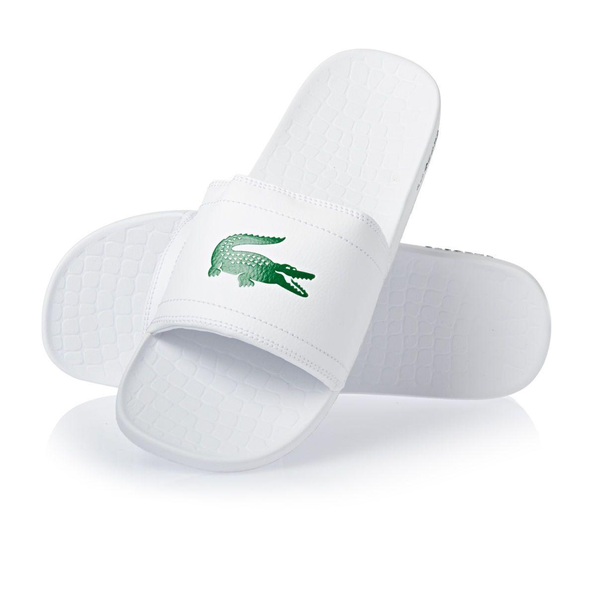 Womens lacoste sandals - Lacoste Fraisier Flip Flops White Green