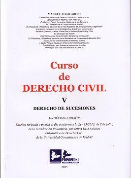Curso De Derecho Civil V Derecho De Sucesiones Albaladejo Manuel Derechos Civiles Derecho Derecho Penal
