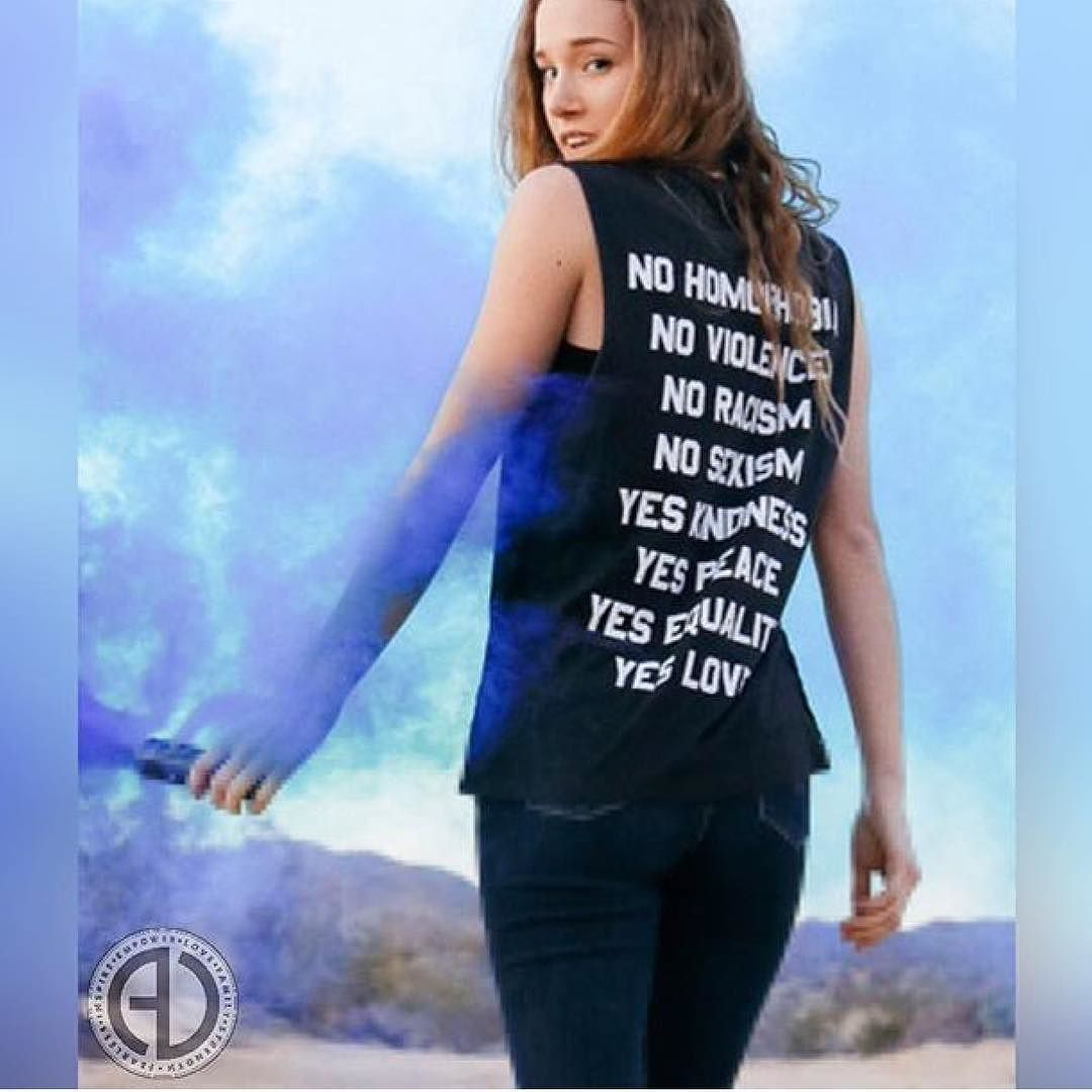 """Equality should be the norm not something we are constantly fighting for.  Wear your feelings on your sleeve (or uhon your back) with the no / yes muscle tee because kindness is magic.  Made with a super soft pre-washed 100% cotton this tee will always be a strong conversation starter.  Wear it to your favorite festival with cut-off shorts.  SHOP: http://ift.tt/1rNgIir  """"No / Yes Muscle Tee by JAC VANEK""""  CODE: """"FREESHIP"""""""