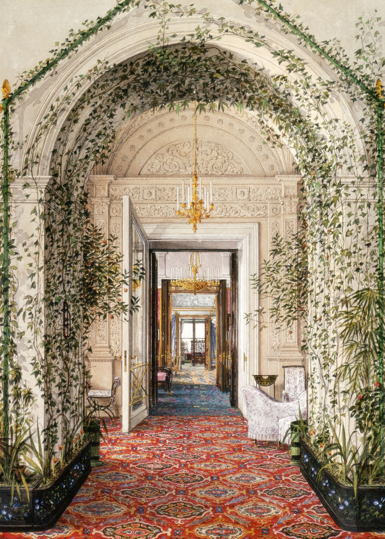 the winter palace the small winter garden in the apartments of