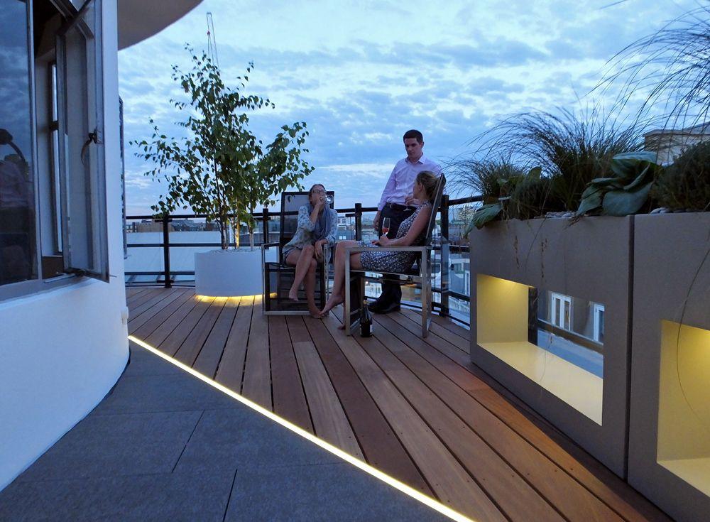 modern roof terrace - Google Search | Outdoor lighting | Pinterest