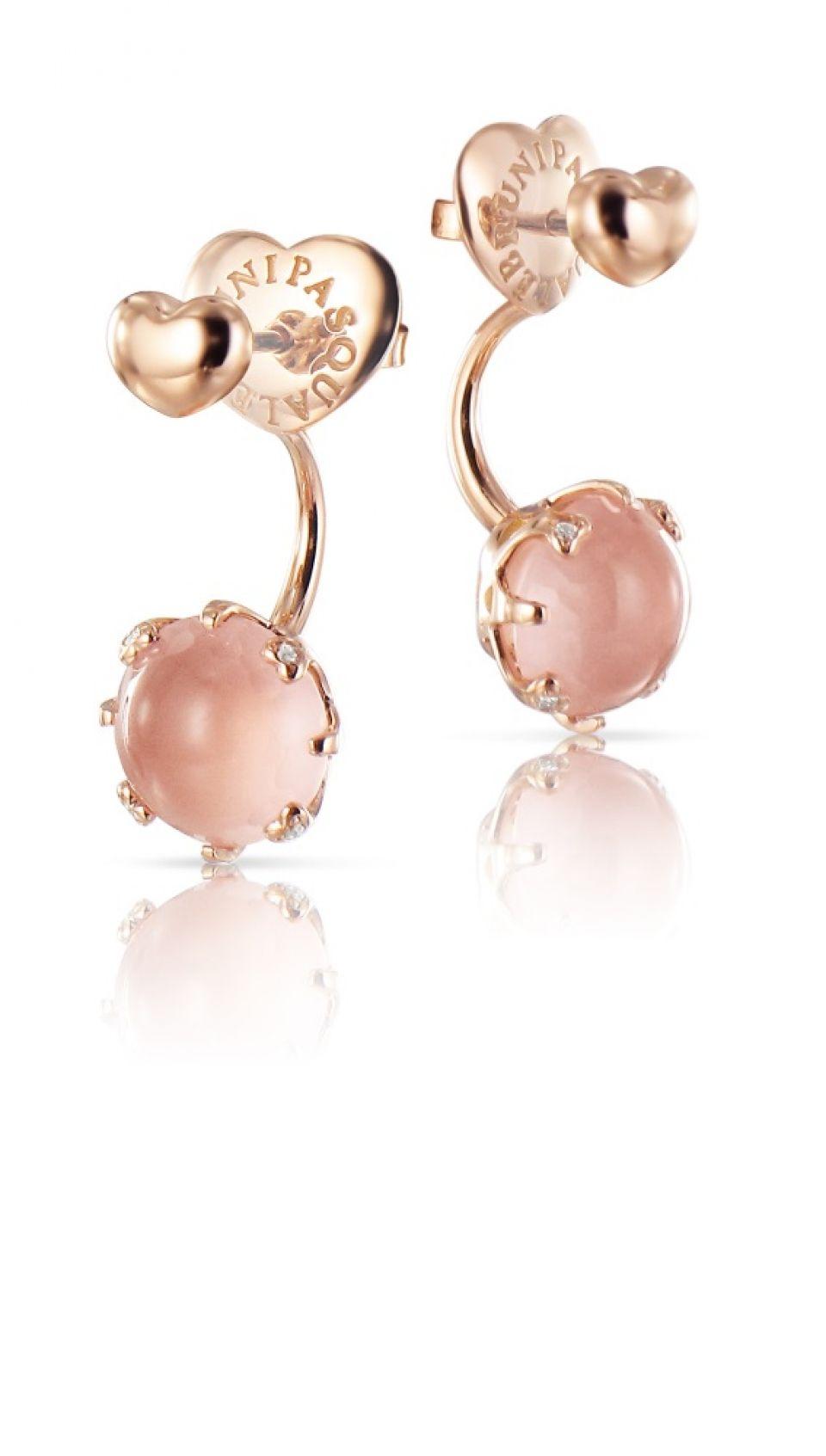 Pasquale Bruni Bon Ton Pink Quartz Flower Jacket Earrings in 18K Rose Gold 7FOHlnyE