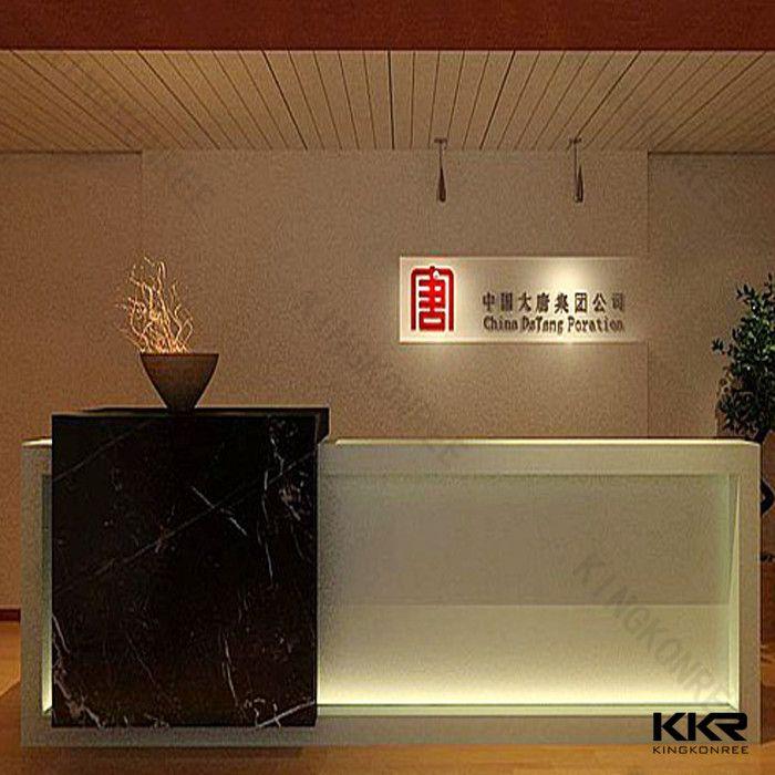 Kkr Modern Office Reception Cash Counter Desk Design For Hotel Buy