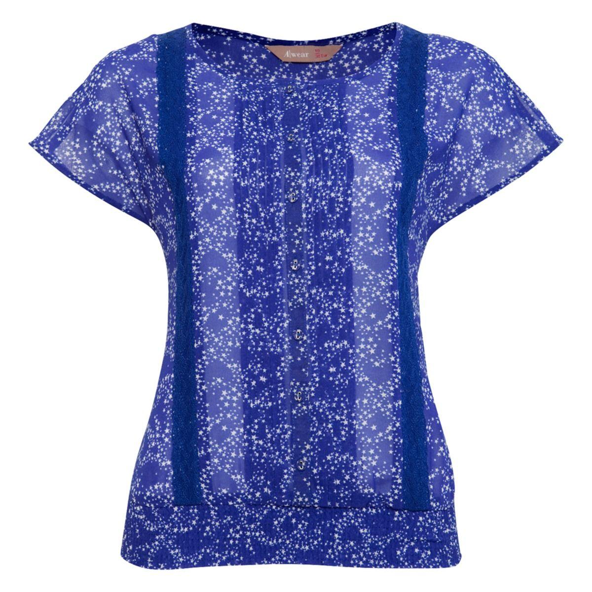 Ciara Star Print Lace Top