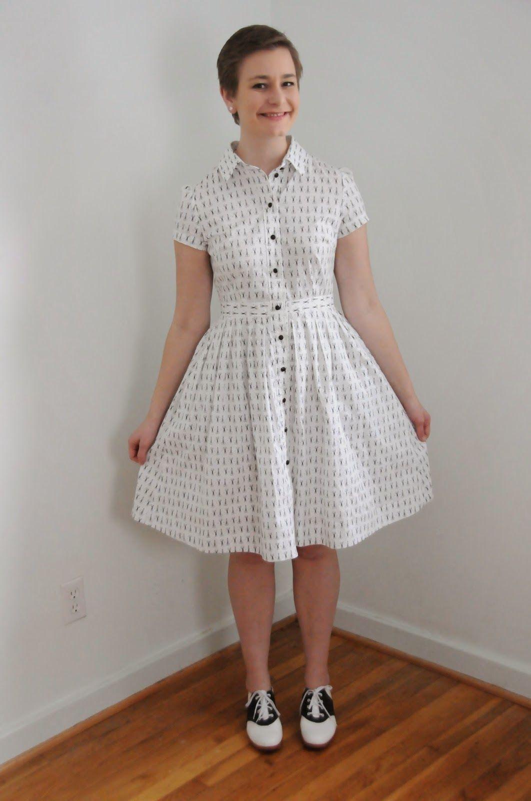 McCall\'s 6696 Shirtdress in Scissor-Print Fabric (The Liveaboard ...