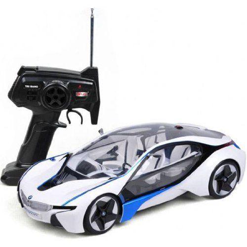 Rc Bmw Car Remote Control Tri Band Full Function Has Led Lamps And Shocks Bmw I8 Bmw Bmw Electric Car