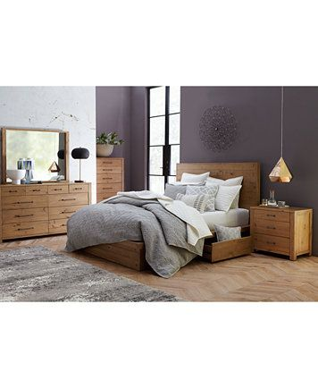 Abilene Solid Pine Storage Bedroom Furniture Collection, Only at ...