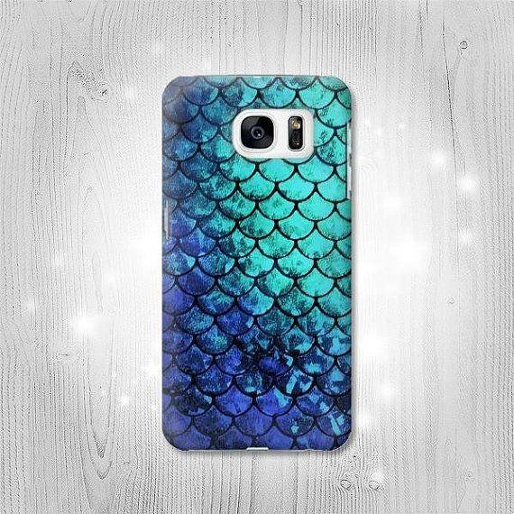 Blue Sea Mermaid Fish Scale Hard Leather Flip Case Iphone Xs Max