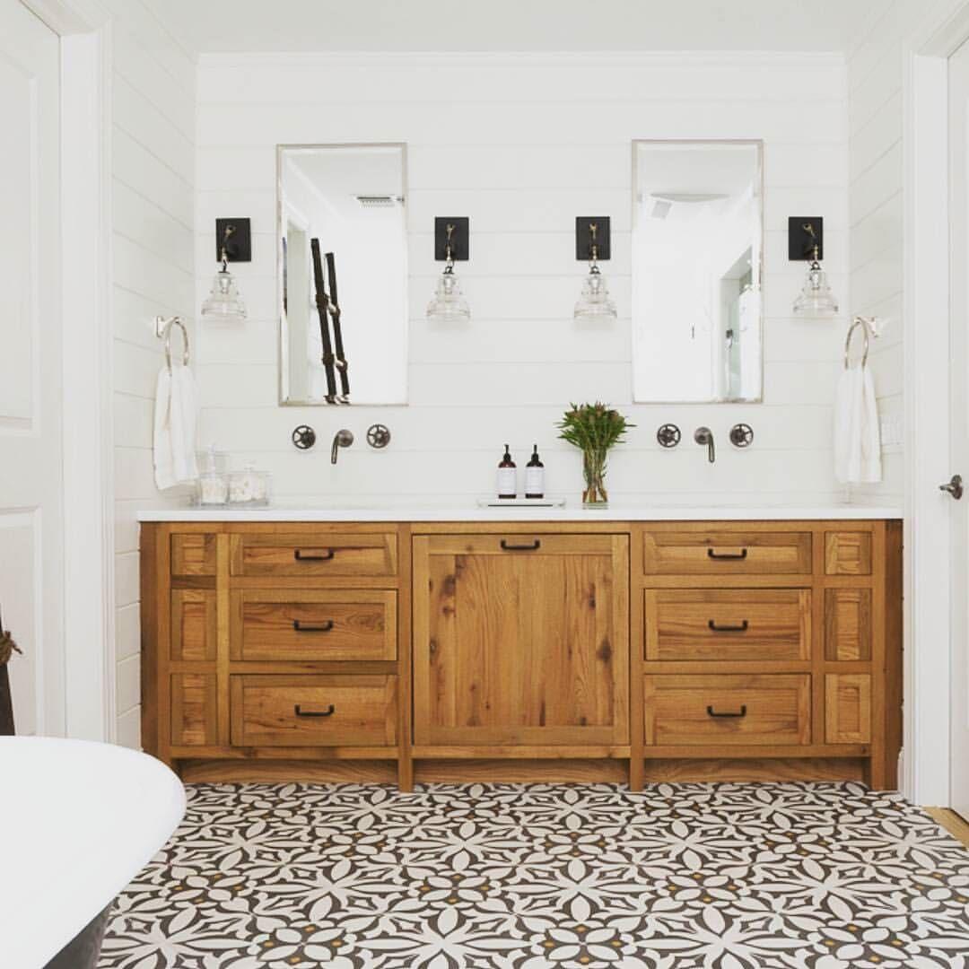 See This Instagram Photo By Cementtileshop 358 Likes Modern Farmhouse Bathroom Shiplap Bathroom Wall Shiplap Bathroom