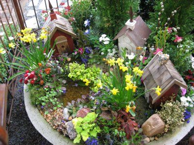 Dig It Children S Gardening Resource Build A Tiny Gnome Town Fairy Garden Houses Miniature Garden Miniature Fairy Gardens