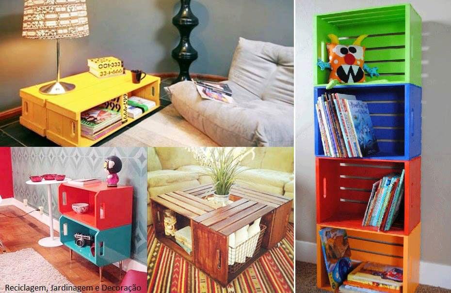 cajas mueble reciclado manualidades Pinterest Muebles