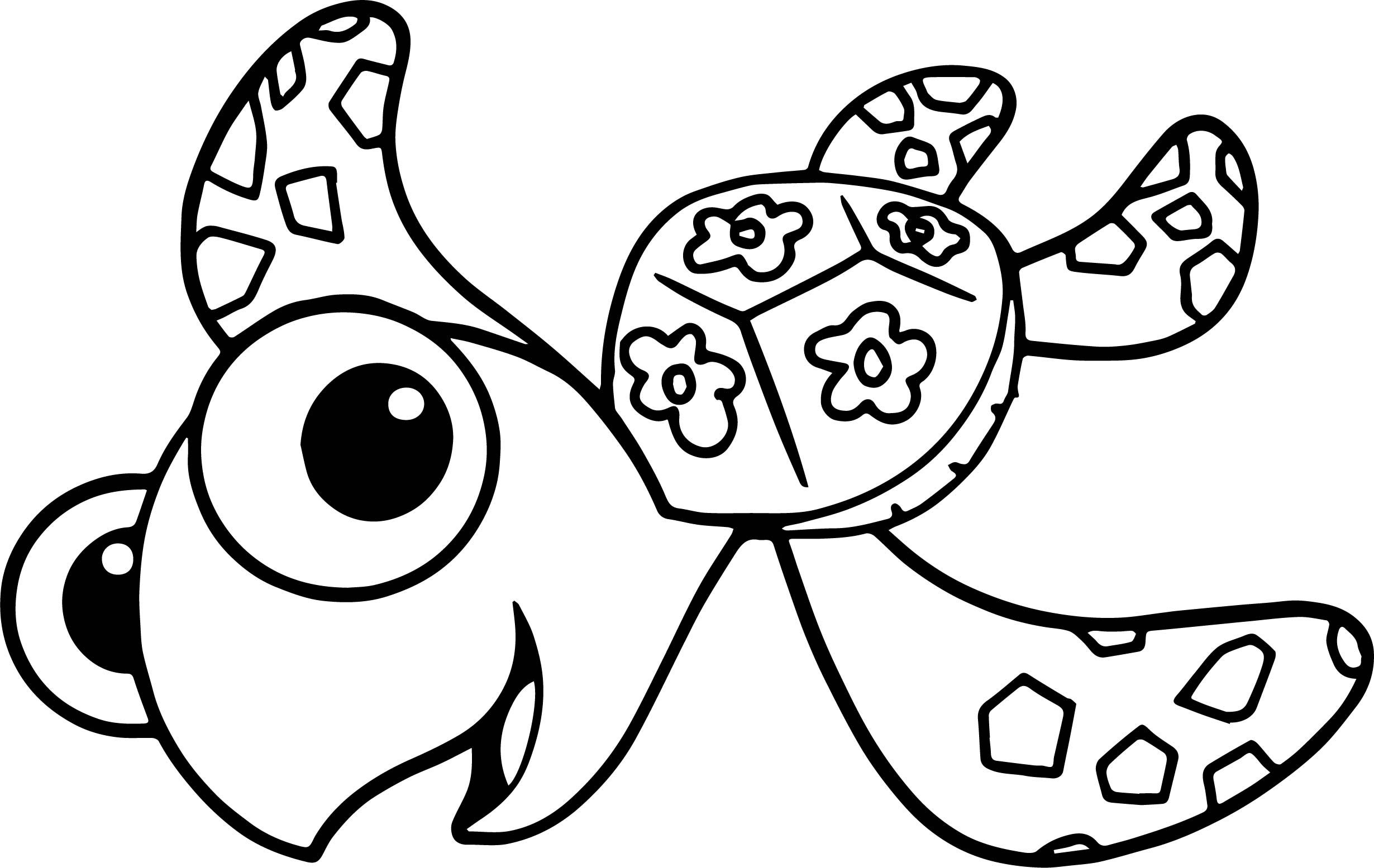 Cool disney finding nemo squirt sea turtle coloring pages