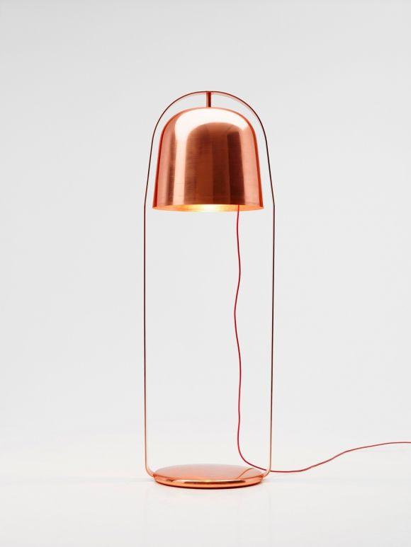 Copper | 銅 | Cobre | медь | Cuivre | Rame | Dō | Metal | Mettalic | Colour | Texture | Bella Copper Lamp - Lucie Koldova Studio