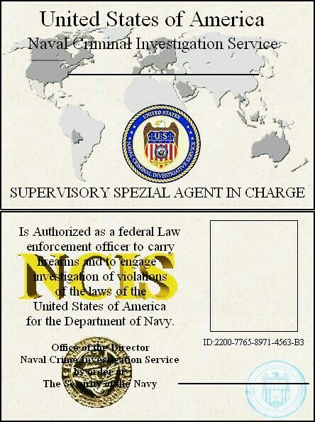Pin By Carjos06 On Ncis Id Template Federal Law Enforcement