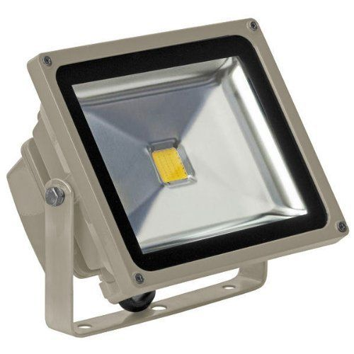 30 Watt Led Waterproof Flood Light Fixture Warm White Operates At 100 To 240 Volts Grey Housing By Plt 100 00 Wa Led Lights Flood Lights Led Flood