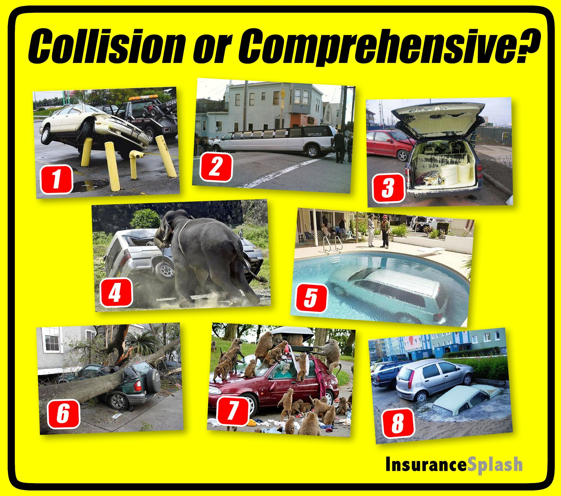 Collision or comprehensive insurance coverage you make