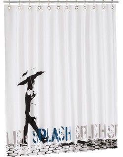 Bathroom Flavor Banksy Shower Curtain Modern Shower Curtains