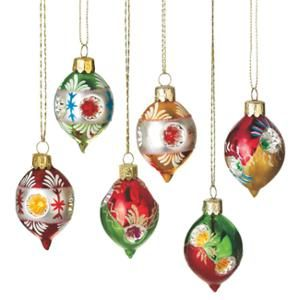 Set Of 6 Retro Style Reflector Glass Drop Christmas Ornaments 2 75 Walmart Com Christmas Ornaments Glass Christmas Ornaments Christmas Decorations Ornaments