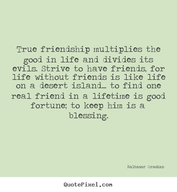 True Friendship Multiplies The Good In Life And Divides Its.