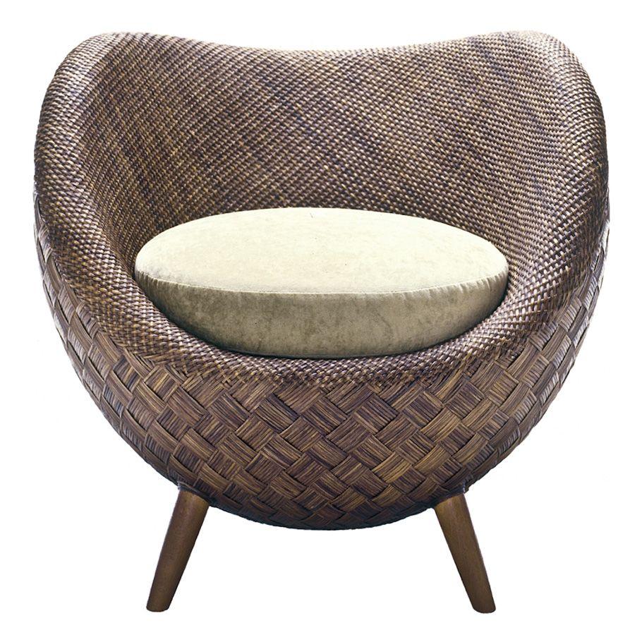 La Luna Lounge Chair Janus Et Ciejanus Et Cie Round Wicker Chair Rattan Chair Rattan Chair Cushions