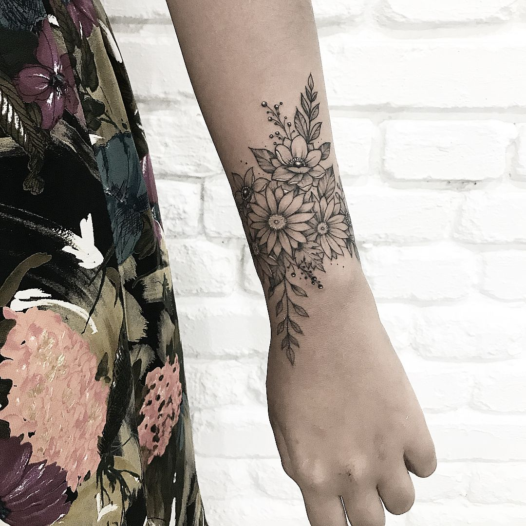 Image May Contain One Or More People Wrap Around Wrist Tattoos Wrist Tattoo Cover Up Forearm Tattoo Women