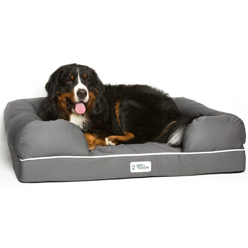 Isaacs Ultimate Dog Bed Lounge With Orthopedic Memory Foam