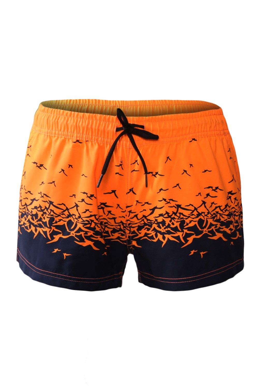 8658a1a4c0 Orange Sea Gull Printed Women Swim Shorts in 2019 | Women's Fashion ...