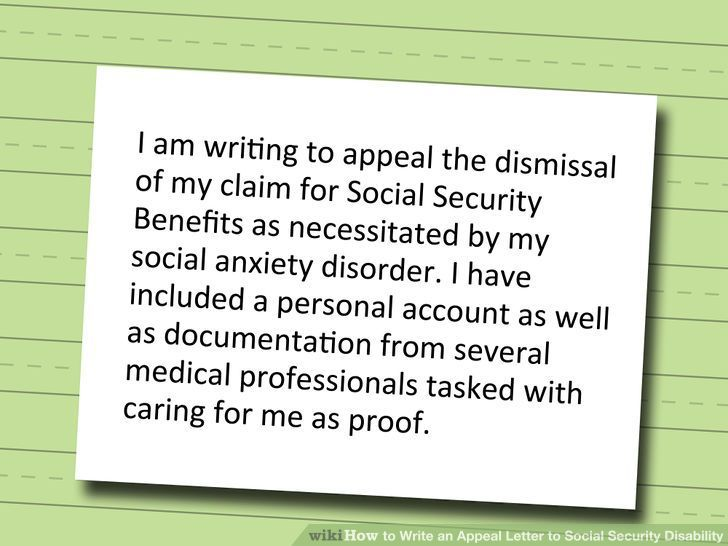 Write an Appeal Letter to Social Security Disability Social - appeal letter template