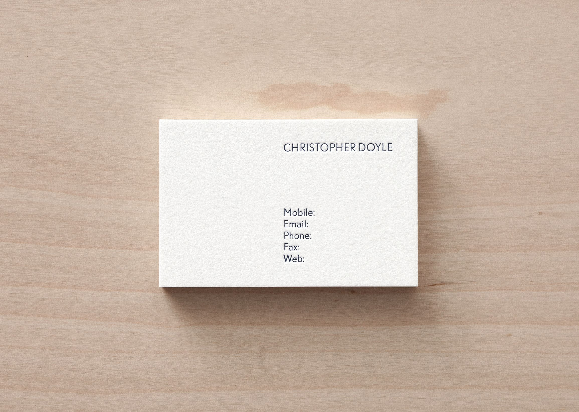 none of your business cards by christopher doyle the essential