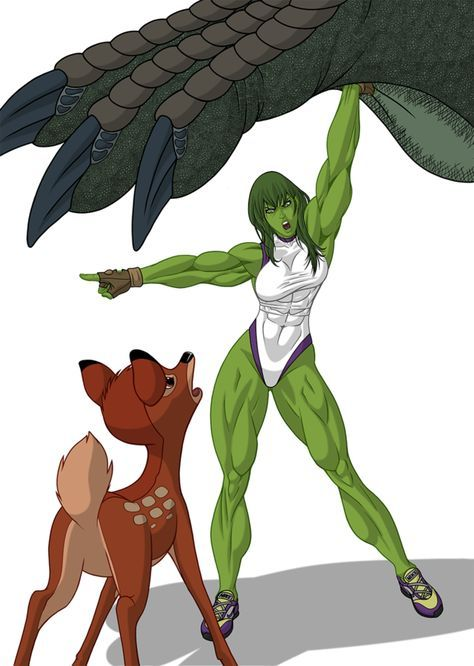 She Hulk Fan Art Bambi Godzilla And She Hulk By Fabio018 Awesomeness Aaa Hulk Marvel Shehulk Marvel Superheroes