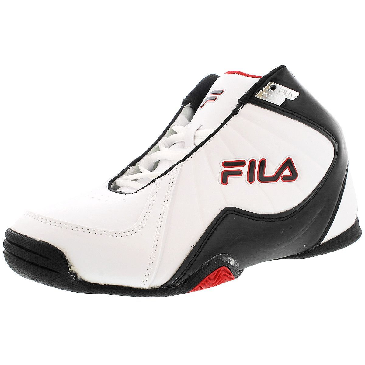 Fila - Men's Leave It On The Court Sneaker in White/Black/Red