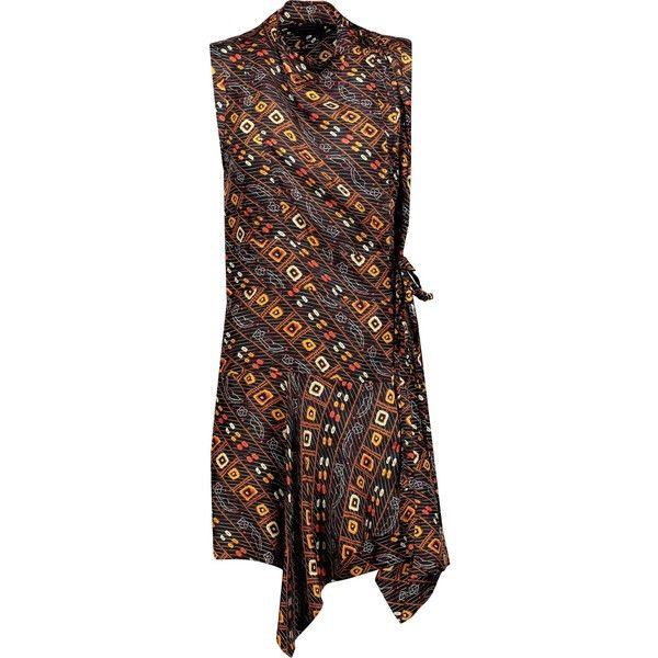 ISABEL MARANT Tabby ruffled printed silk-satin mini wrap dress (€215) ❤