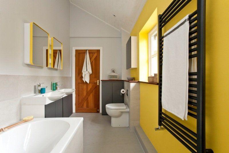 Décoration intérieur invitez le jaune et le gris dans l` espace