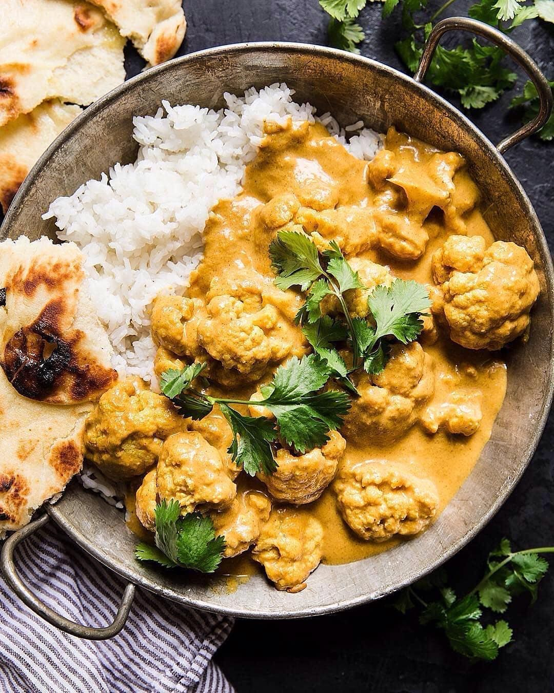 Vegan Food Recipes On Instagram Coconut Cauliflower Curry