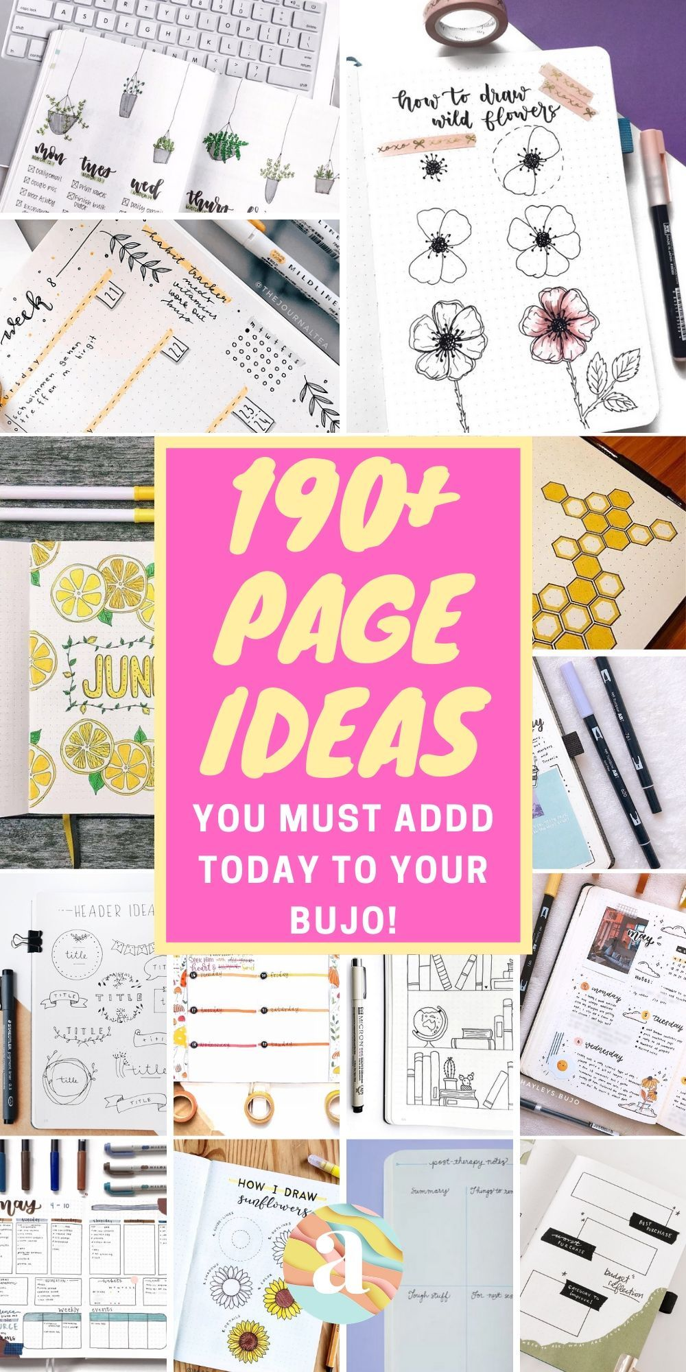 190+ Bullet Journal Page Ideas to Organize Your Life!