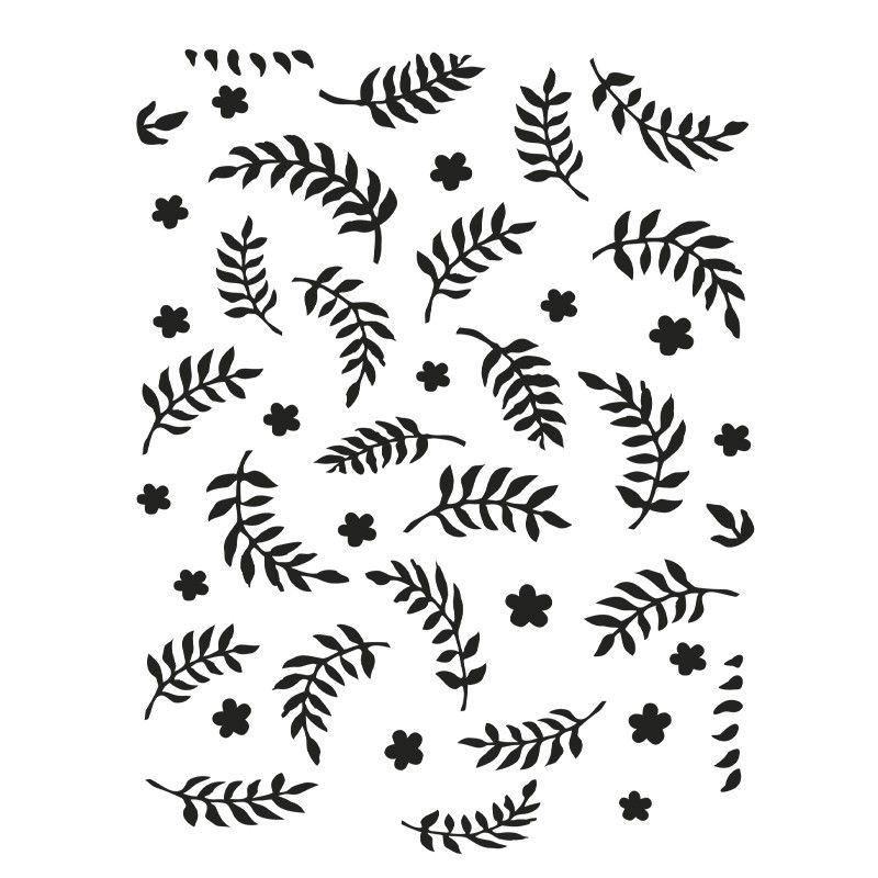 Laser-Kunststoff-Schablone, Din A4, Hintergrund 5, Blätter - sample instruction manual template