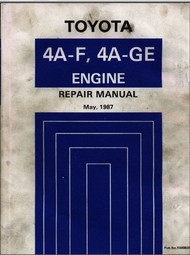 toyota 4a f 4a ge engine repair manual projects to try rh pinterest com Toyota 4E Engine Toyota 4E Engine
