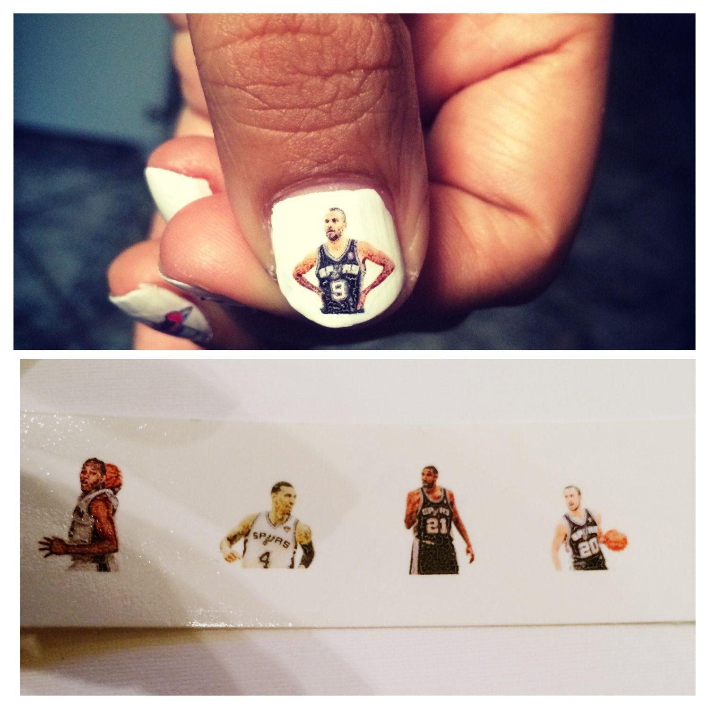 San Antonio Spurs Players nail decals by nadiasortiz on Etsy, $3.00 ...