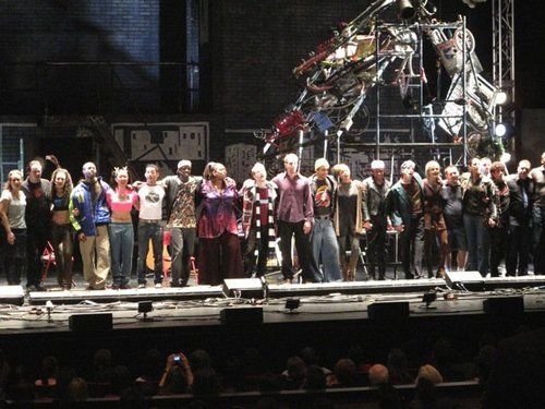 Final Curtain Call Of Rent The Broadway Tour Curtain Call