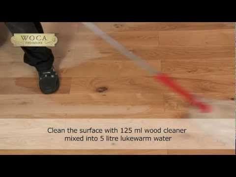 WOCA Master Oil - YouTube. LO que usaron en los pisos de patina farm.