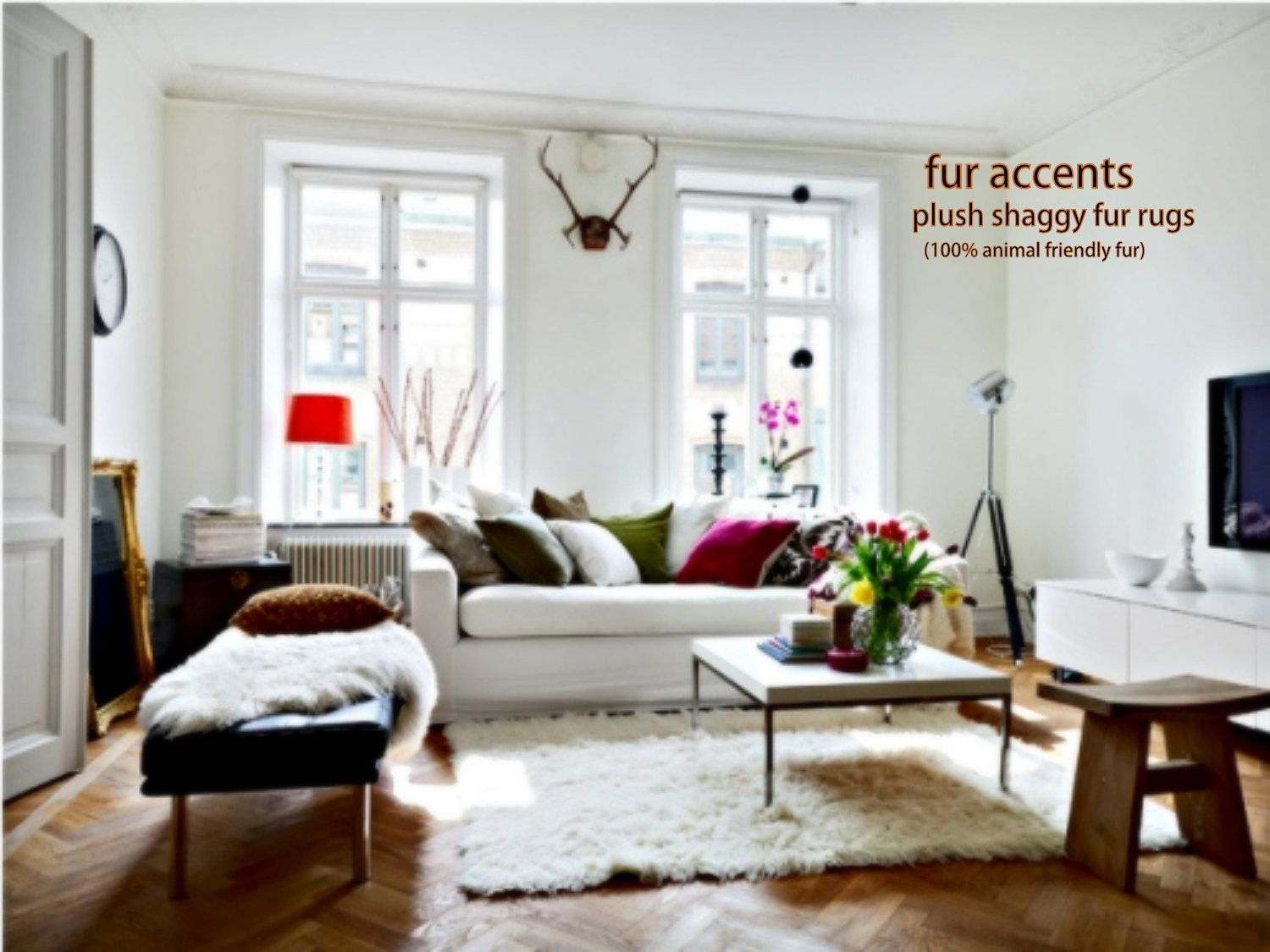 Faux fur rug | For the Home | Pinterest | Sheepskin throw, Accent ...