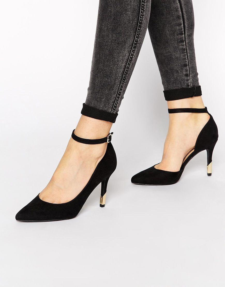 Zapatos negros de punta abierta New Look para mujer ETp9J1DX