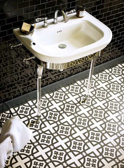 Sydney's Beautiful Bathrooms & Kitchens kitchen floor: fired earth domino tile | french bistro style