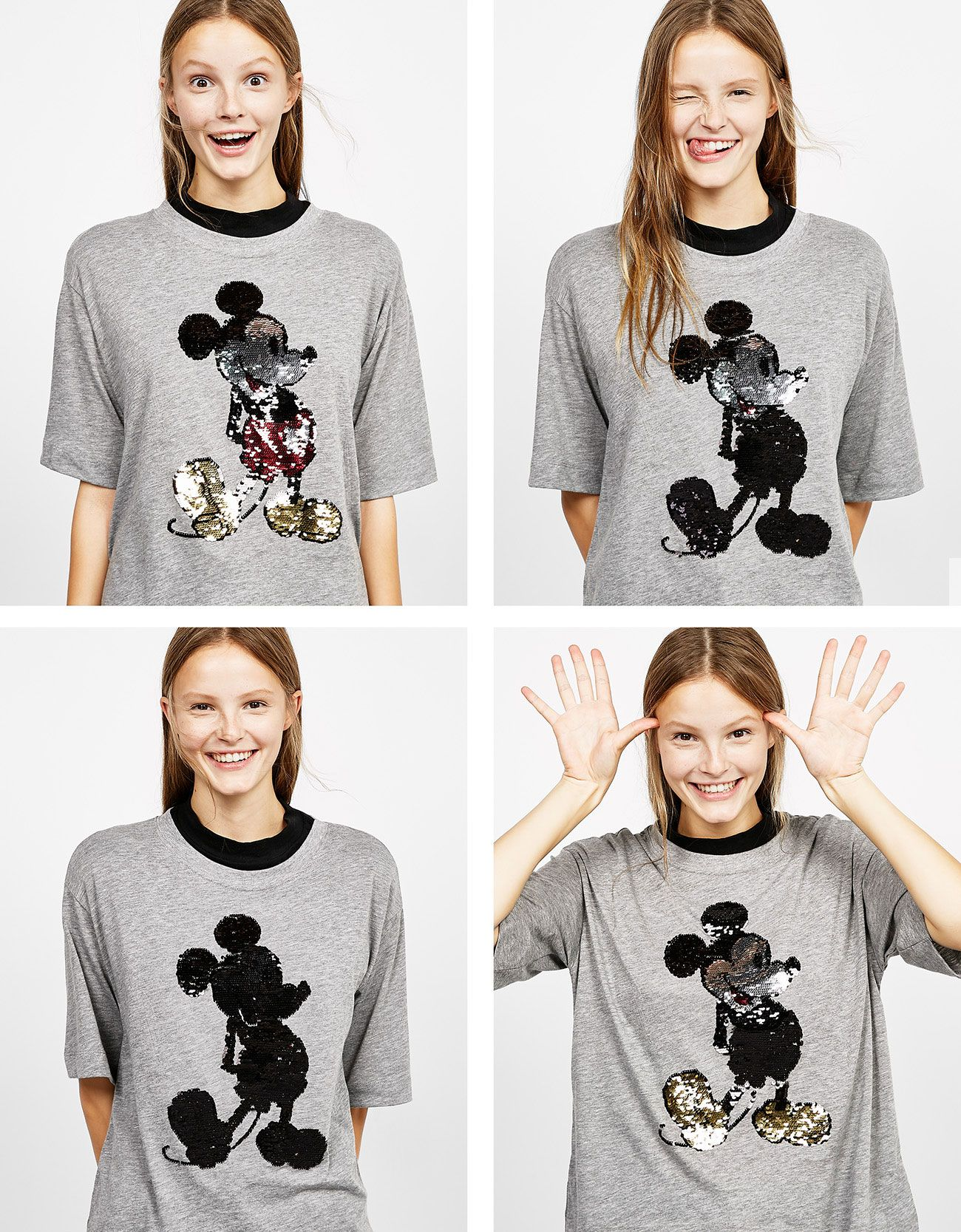 8f2b06aebba2 Reversible sequins Mickey T-shirt in 2019 | FLIP | Sequin shirt, T ...