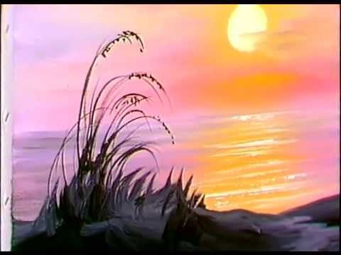 Bob Ross Ocean Sunrise Painting Video Awesome Art Lessons