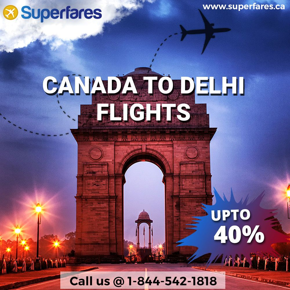 Grab The Best Offers on Canada to Delhi(DEL) Flights (With